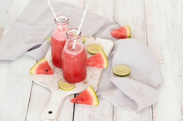 Watermelon smoothie, summer refreshing drink