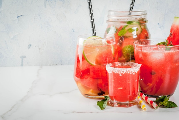 Watermelon summer drinks