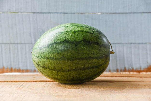 Watermelon summer fruit fresh on wooden
