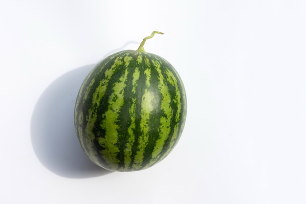 Watermelon on white background. copy space