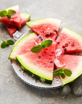 Watermelon with ice