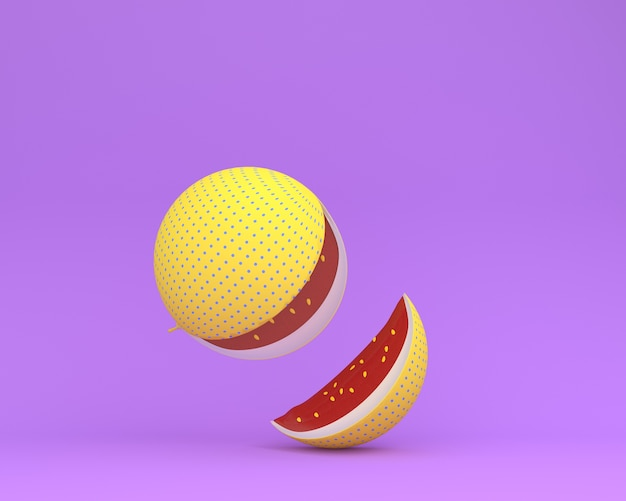 Watermelon yellow polka dots separate pieces