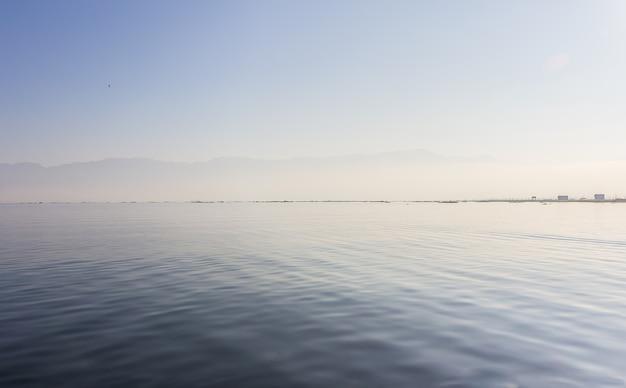 Waterweeds pick up on inle lake, nyangshwe, myanmar, burma