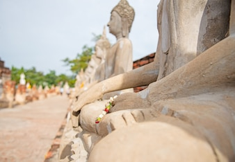 Watyaichaimongkol temple in Ayutthay, Thailand.