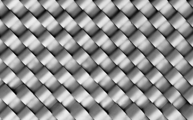 Wave of modern aluminum ventilated at building - light and shadow
