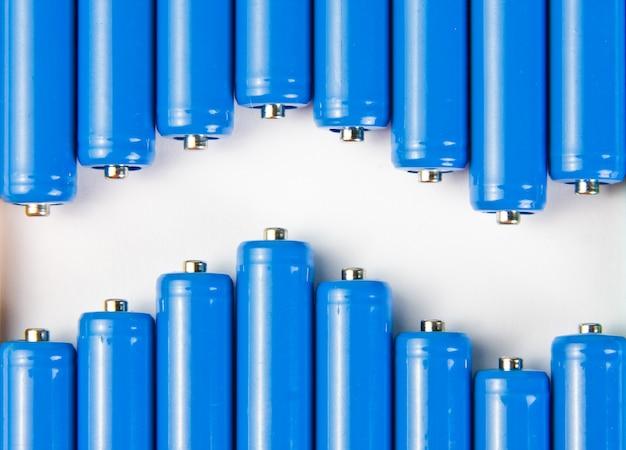 青い電池の波