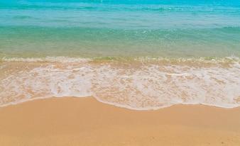 Wave of sea on the sand beach