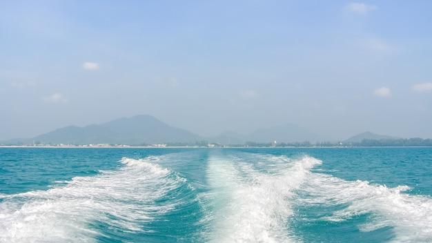 바다에 파 프리미엄 사진