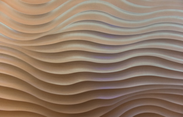 The wave pattern concrete wall