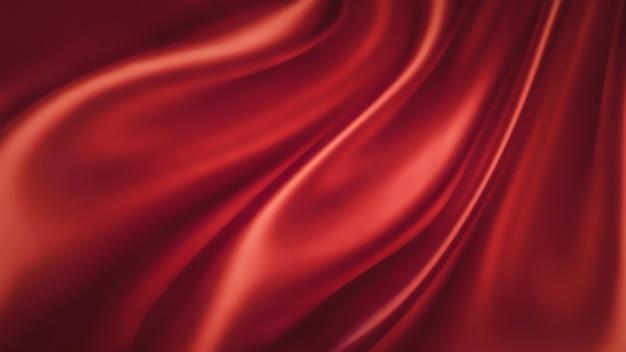 Волны красного шелка как фон