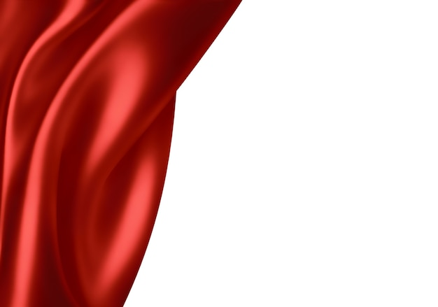 Волны красной шелковой ткани как фон