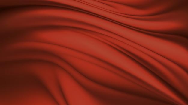 배경으로 붉은 실크 전체 화면의 파도