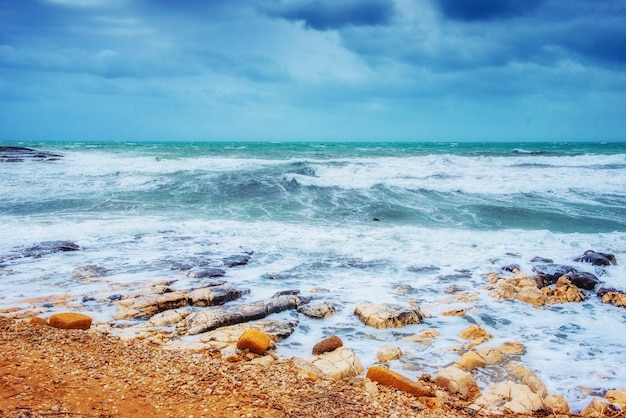 Waves on the sea landscape