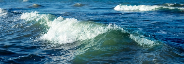 Waves on the sea panorama
