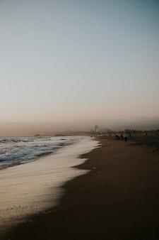 Waves washing up at manhattan beach