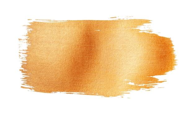 Размахивая и сверкающий золотой мазок кисти, изолированные на белом фоне