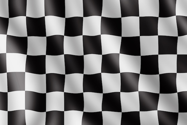 Waving checkered flag, realistic illustration