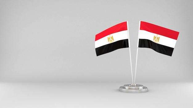 Waving flag of egypt 3d render background