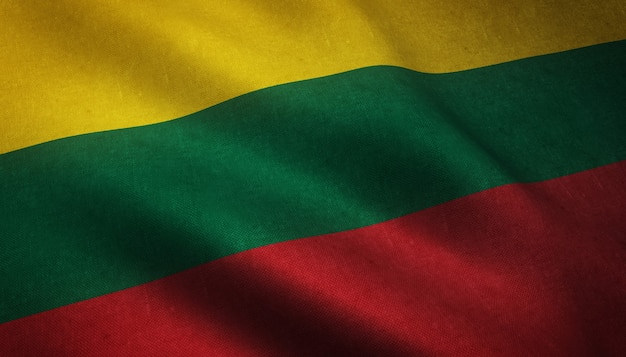 The waving flag of lithuania