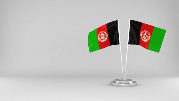 Развевающийся флаг афганистана 3d визуализации фона