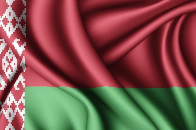 Развевающийся флаг белоруссии