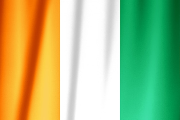 フラグコートジボワールの旗を振っています。
