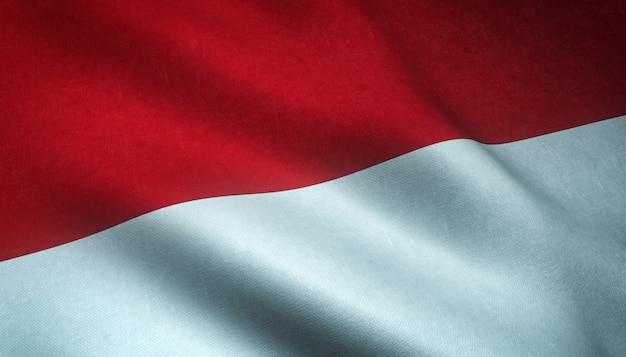 Развевающийся флаг монако фон