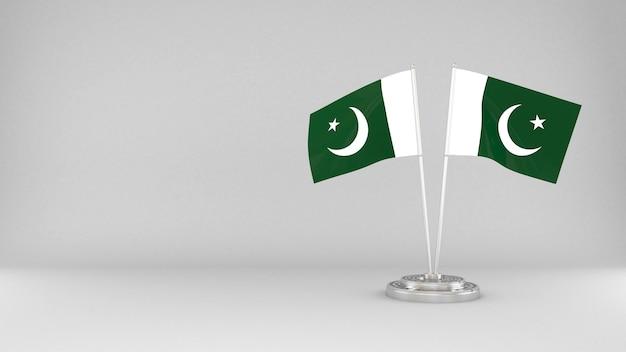 Развевающийся флаг пакистана 3d визуализации фона