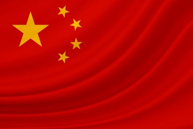 中華民国の国旗を振る