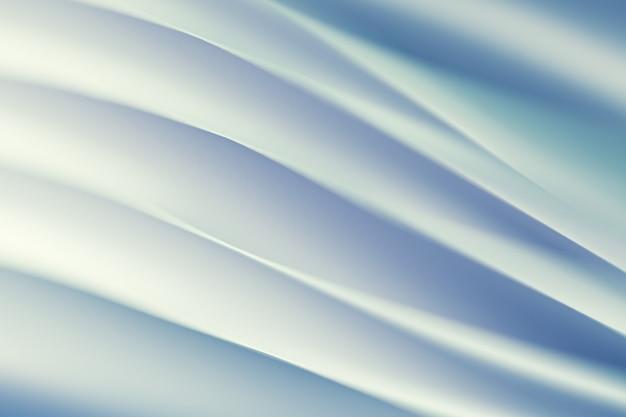 종이 시트로 만들어진 물결 모양의 추상 구조