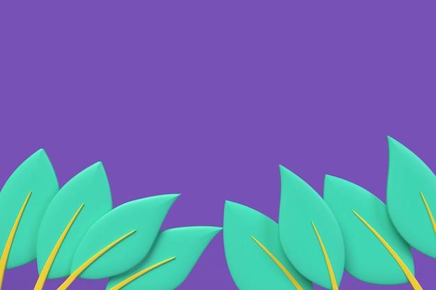 물결 모양 배경 복사 공간이 리프. 3d 렌더링 그림