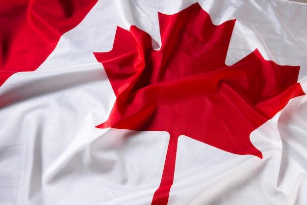 Wavy canadian flag