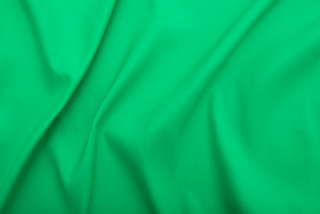 Wavy green fabric, cloth fabric texture or background