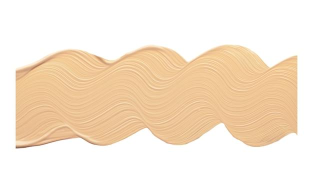 Волнистой линией мазка выделите крем bb или cc для тона лица.