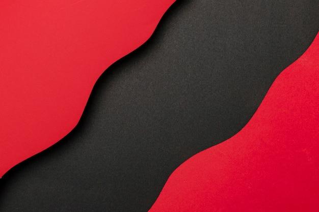 물결 모양의 빨간색과 검은 색 배경