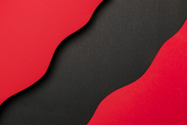 Wavy red and black background