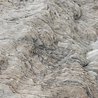 Wavy rock flake geological formation