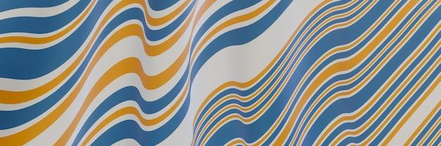 波状の縞模様の背景