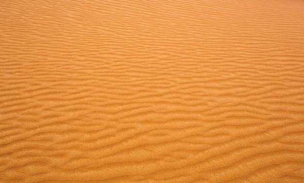 Волнистый желтый узор текстуры песка пустыни, дикая природа