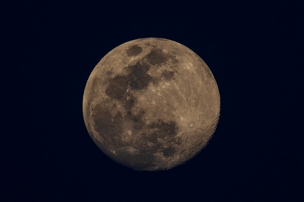 A waxing gibbous moon