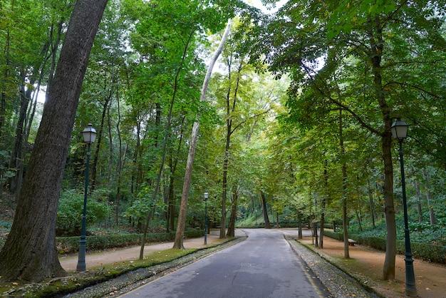 Way to alhambra park in granada in spain