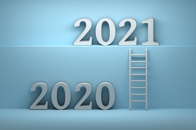 Way from 2020 year to 2021 year