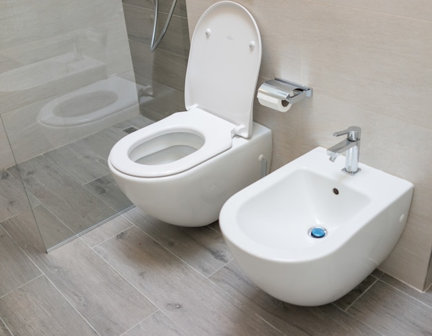 Wc toilet in modern home