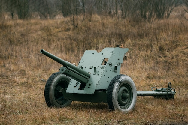 Weapons 53-k of the soviet army against wehrmacht tanks