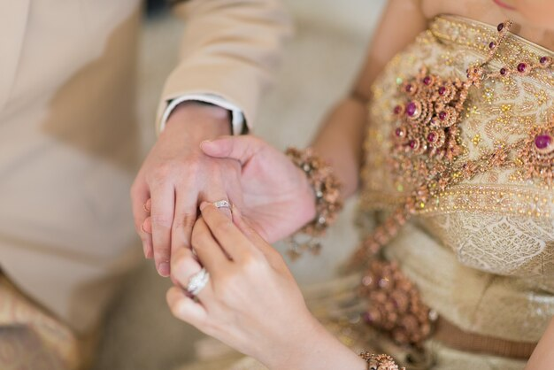 Wear a ring, wedding ring, love couple