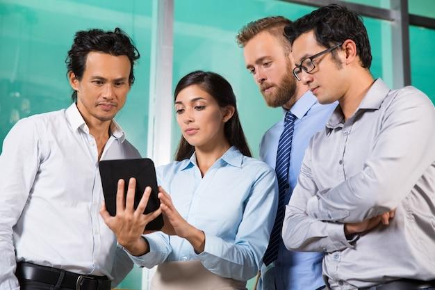 Wearing analyzing male expertise multiethnic