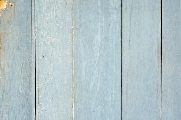 風化した青い塗られた木の板の壁の背景