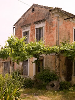 Weathered building in corfu