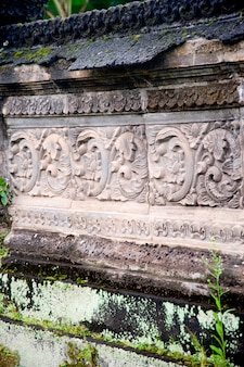 Weathered carvings in Bali