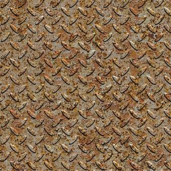 풍 화 금속 다이아몬드 플레이트 표면. 원활한 tileable 텍스처입니다.